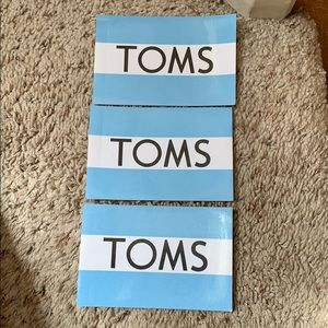 TOMS stickers set of 3